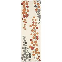 Safavieh Soho Collection SOH338B Handmade Beige and Orange Premium Wool Runner (26 x 8)