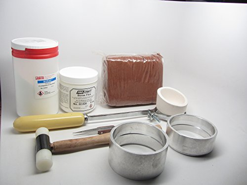 Delft Clay Sand Casting Deluxe Kit Crucible Borax Powder Gold Silver Copper 100mm Ring Frames