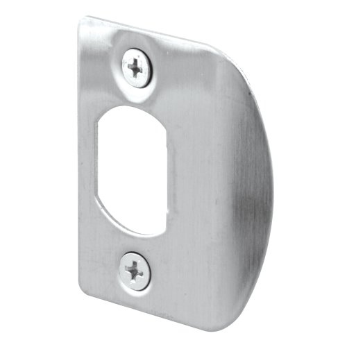 Defender Security E 2301 Standard Latch Strike, 1-5/8 in. Hole Spacing, Stainless Steel, Pack of 2 ()