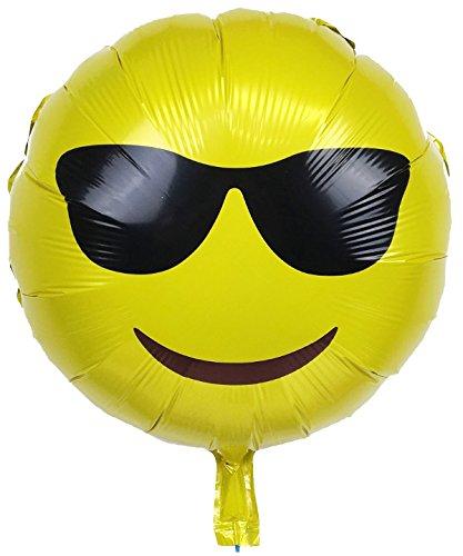 Amazon.com: Gafas de sol con globo de lámina Emoji Mylar ...