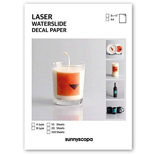 Sunnyscopa DIY Laser Urethane Decal Transfer Paper 8.5