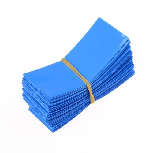 200pcs Blue PVC Heat Shrink Tubing Tube For 18650 18500 Battery Shrink Film 29.5mm 18.5mm