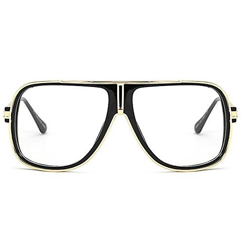 retro clásicas Transparente de 80s Unisex de de de aviador sol hombres las los del del gafas espejo sol Gafas Eq1FawUUt
