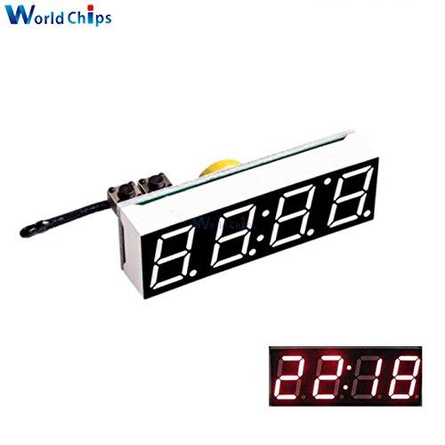 3 en 1 DIY Digital reloj temperatura voltaje Kit DS3231SN 5 - 30 V DC electrónico LED rojo módulo de reloj para Arduino: Amazon.es: Electrónica