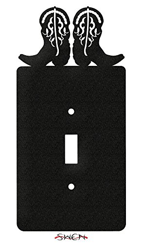 SWEN Products HORSE COWBOY BOOTS WESTERN Wall Plate Cover ()