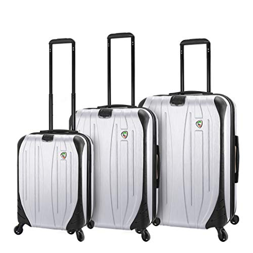 Mia Toro Italy Compaz Hard Side 20' Spinner Luggage, White
