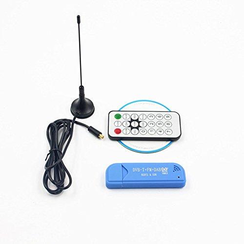 Leoie USB2 0 FM DAB DVB-T RTL2832U R820T2 RTL-SDR SDR Dongle Stick Digital  TV Tuner Remote INFRARED Receiver with Antenna