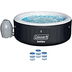 "Coleman 71"" x 26"" Inflatable Spa 4-Person Hot Tub with 6 Filter Cartridges"