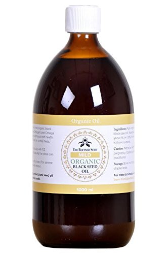 Organic Black Seed Oil, The Blessed Seed MILD Organic, 1 Liter by The Blessed Seed