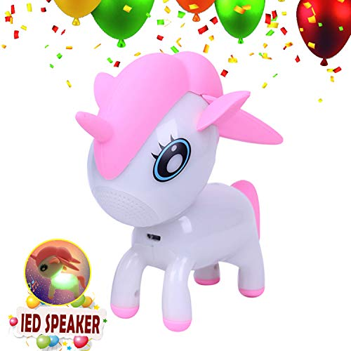 Unicorn Pet Speaker Wireless Bluetooth (USB), Color Change LED Musical Light Player,Animal Audio Lamp,Valentine's Day,Novelty Toy & Gift for Kid,Baby,Girl,Boy... (She Don T Like My Kinda Music)
