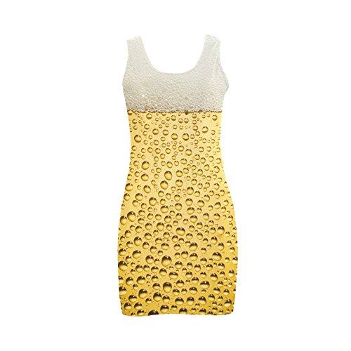 Artsadd Close Up Beer Glass Novelty Women's Sleeveless Vest Dress