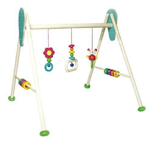 Hess Holzspielzeug 13373 Babyspielgerät Käfer Tom aus Holz, höhenverstellbar, Circa 62 x 57 x 55 cm