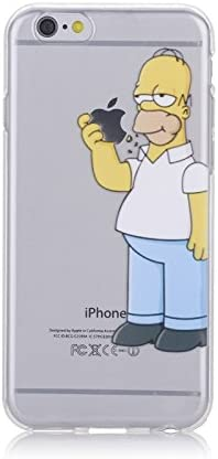 Abaure - Coque Homer Simpson Iphone Se 5s 5 mange la pomme: Amazon ...