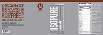 Isopure Low Carb Protein Powder, Whey Protein Isolate, Flavor: Dutch Chocolate, 3 Pounds (Packaging May Vary) 17