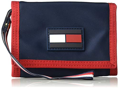 Tommy Hilfiger Leah Trifold Wallet, Navy/Red