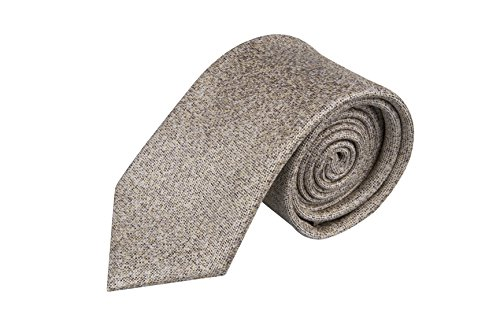 Beige melange Necktie Silk Men's Notch txPISqgc
