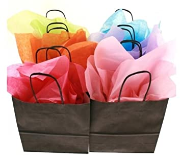 Light Pink A4 Paper Party Gift Bags /& Tissue Wrap ~ Boutique Shop Carrier Bag