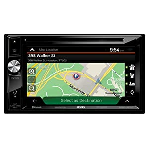 Jensen VX7023 A/V Receiver w/ DVD | Built-in NAV | Built-in Bluetooth Technology | Sirius-XM Ready | Pandora | USB