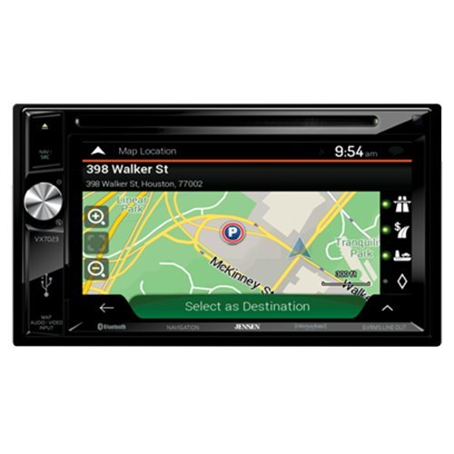 Jensen VX7023 A/V Receiver w/ DVD | Built-in NAV | Built-in Bluetooth Technology | Sirius-XM Ready | Pandora | USB