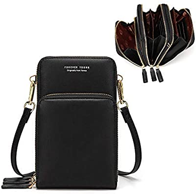Women Wallet PU Leather Coin Mobile Phone Purse Mini Cross-body Shoulder Bag