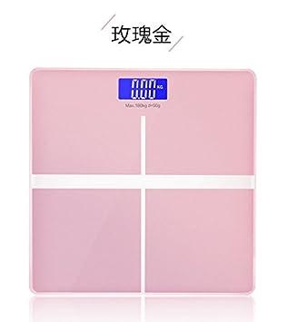 ZhangTianShi Báscula de baño Básculas básculas electrónicas, rosa oro: Amazon.es: Hogar
