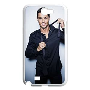 Samsung Galaxy Note 2 7100 White Cell Phone Case Cristiano Ronaldo Clear Phone Case