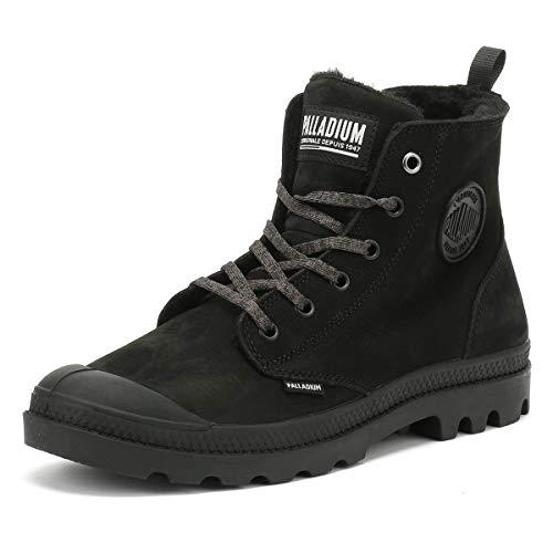- Palladium Womens Pampa Hi Zip WL Nubuck Black Boots 6 US