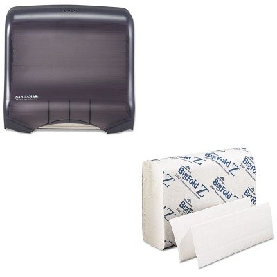 KITGEP20887SJMT1750TBKRD - Value Kit - Georgia Pacific Z Paper Towels (GEP20887) and San Jamar Ultrafold Towel Dispenser (SJMT1750TBKRD)