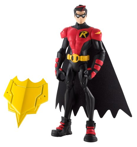 Batman Power Attack Lava Mission Battle Action Figure Strike Shield Robin
