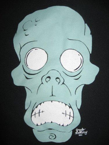 - Medium T-shirt - Crypt of Blood Records - Teal Skull