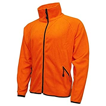 Amazon.com: World Famous Blaze Orange Fleece Jacket (BLAZE CAMO L
