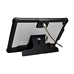 """Cta Digital Pad-sckp Security Case With Kickstand & Anti-theft Cable For Ipad Pro 12.9"""", Black"""