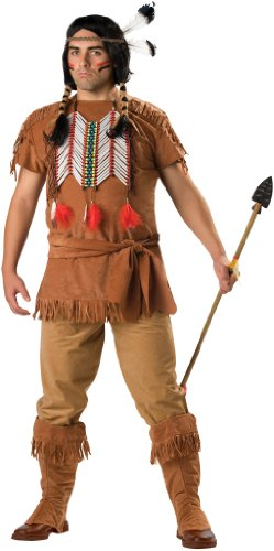[InCharacter Costumes, LLC Men's Indian Brave Costume, Brown, XXX-Large] (Party City Indian Costume)