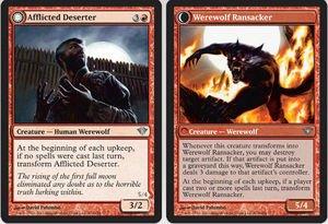 Magic: the Gathering - Afflicted Deserter // Werewolf Ransacker - Dark Ascension