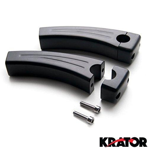 """UPC 698056405582, Krator 5.5"""" Black Bike Handlebar Pullback Risers 7/8"""" For Kawasaki Ninja ZX-6R ZX 6RR ZX600 600R"""