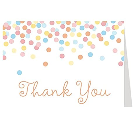 Amazon Thank You Card Baby Shower Rainbow Bridal Shower