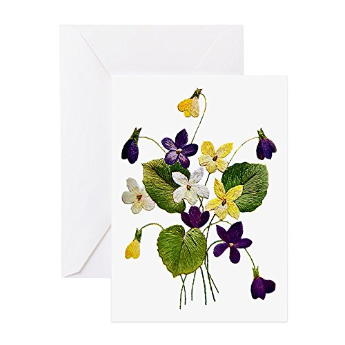 CafePress VIOLETS Greeting Card, Note Card, Birthday Card, Blank Inside Matte