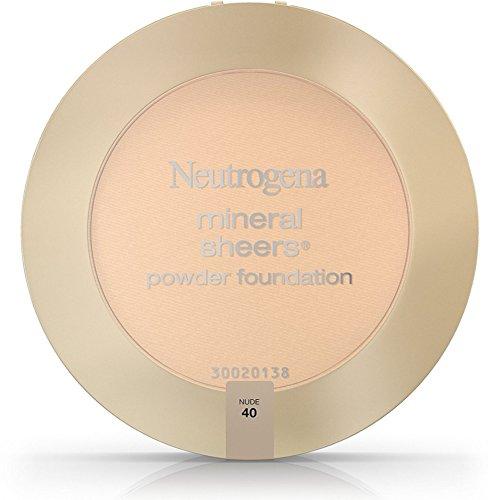 Neutrogena Mineral Sheers Powder Foundation, Nude [40] 0.34 oz (3 Pack)