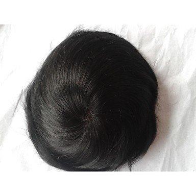 REP - Pelucas europeas de cabello natural - Modernas - Postizo de cabello lacio para hombre