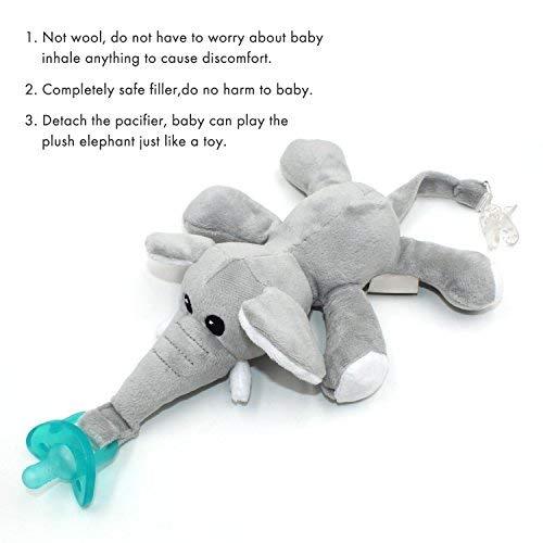 Amazon.com: Bebé Chupete, ztacking chupete bebé Binky pezón ...