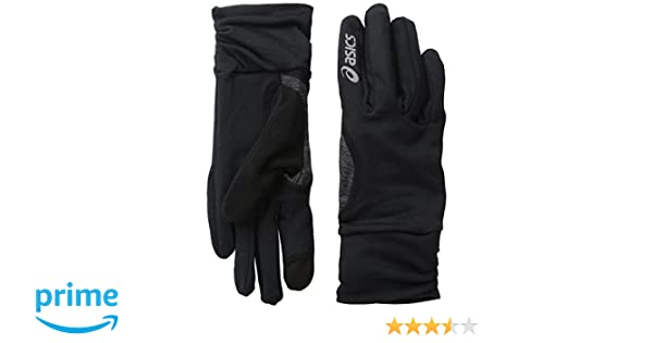 c2ddbbea Amazon.com : ASICS Womens Thermopolis Lt Ruched Glove, black, Large/X-Large  : Sports & Outdoors
