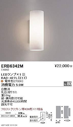 ENDO LEDブラケット 屋内用 電球色2700K フロストクリプトン球40W形相当 ERB6342M(ランプ付) B07HPYY1P7