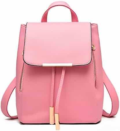 Fashion Shoulder Bag Rucksack PU Leather Women Girls Ladies Backpack Travel  bag 54d870e51a
