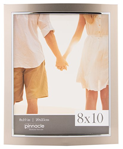 Pinnacle Frames and Accents Pinnacle Champagne and Silver 2-Tone Metal Tabletop Picture Frame, 8 x - Silver Accent Tone Metal