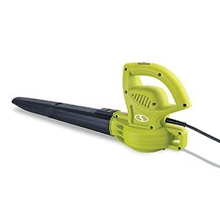 Sun Joe SBJ597E 6-Amp 155 MPH Electric Leaf Blower, Green