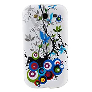 GONGXI-Patrón de círculo colorido TPU caso de la Samsung Galaxy i9300 s3 (varios colores)