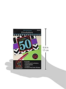 Party Favor 50th Celebration Invitations