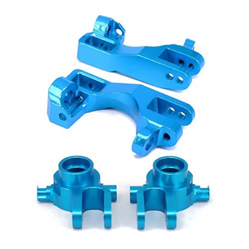 (Machined Steering Knuckles Front Castor Blocks C Hub Carrier Blocks (L/R) 6837X 6832X for RC Hobby Model Car 1/10 Traxxas Slash 5807 Stampede Upgraded Parts(Blue))