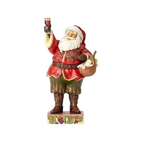 Enesco Jim Shore Heartwood Creek Toasting Traditions Santa with Wine Glass Stone Resin, 10.5″ Figurine Review