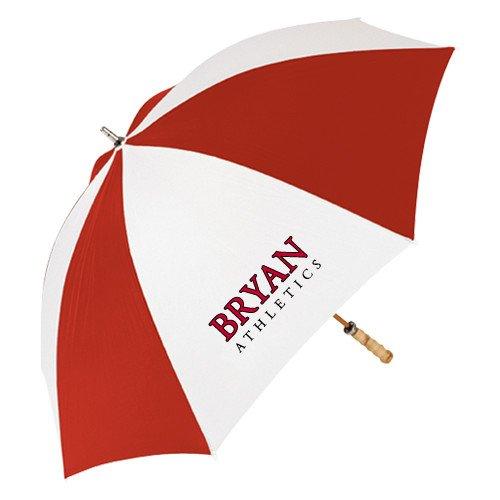 Bryan 62インチレッド/ホワイトVented傘' Bryan Athletics Stacked '   B072J8VLH3